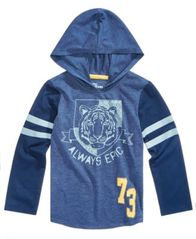 Image of Epic Threads Little Boys Hooded Graphic-Print T-Shirt, Created for Macy's