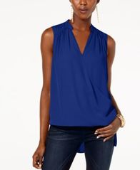 Image of I.N.C. High-Low Surplice-Neck Top, Created for Macy's