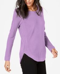 Image of I.N.C. Waffle-Knit Side-Zip Tunic Sweater, Created for Macy's