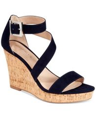 Image of CHARLES by Charles David Leanna Platform Wedge Sandals
