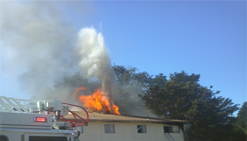 photo of fire in Beaverton