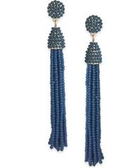 Image of INC International Concepts Gold-Tone Long Beaded Tassel Drop Earrings, Created for Macy's