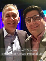 With Glenn T. Shapiro, President of Allstate Personal Lines