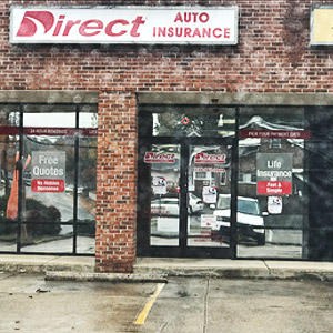 Front of Direct Auto store at 1009 South Scales Street, Reidsville