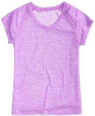 Image of Ideology Heathered V-Neck T-Shirt, Big Girls (7-16), Created for Macy's