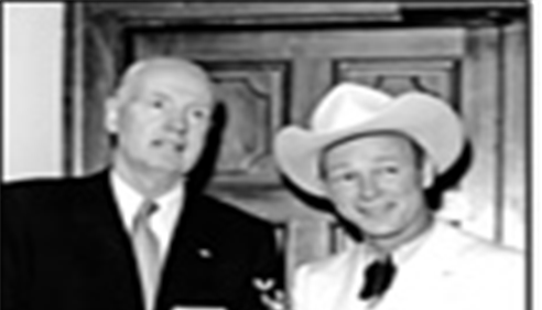 Roy Rogers & Farmers® co-founder Thomas Leavey in 1953