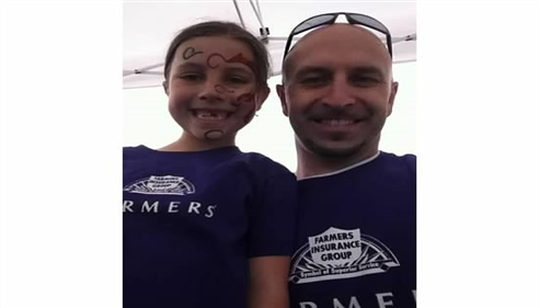 My little girl Sydney and I at the March of Dimes 5K, May 2013.