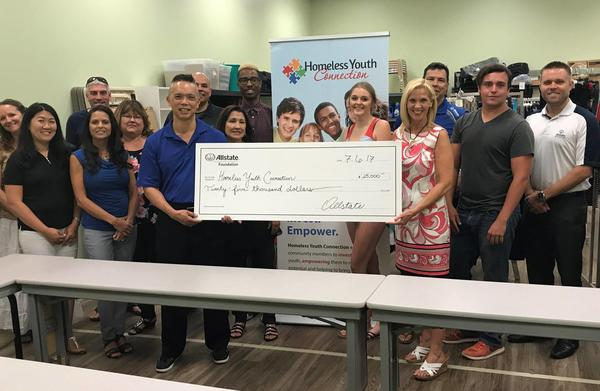 Kevin Lum - Homeless Youth Connection Receives Allstate Foundation Helping Hands Grant