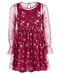 Image of Epic Threads Big Girls Butterfly-Print Mesh Dress, Created for Macy's