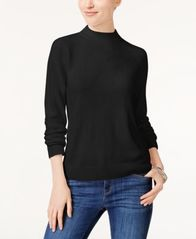 Image of Karen Scott Luxsoft Mock-Neck Sweater, Created for Macy's