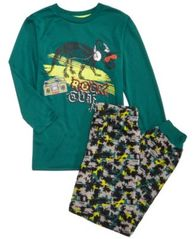 Image of Max & Olivia 2-Pc. Rock Out Pajama Set, Little Boys & Big Boys, Created for Macy's