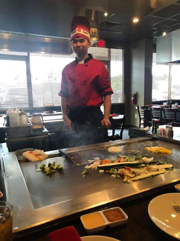 Chef at a Japanese steakhouse