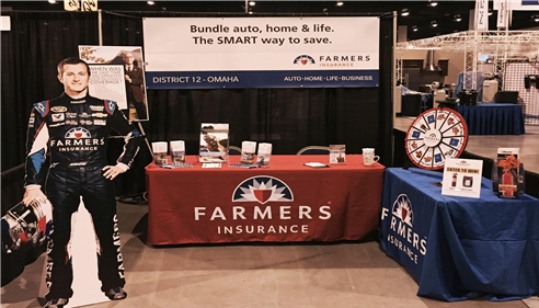 Farmers  booth at the Omaha Boat and Travel Show!