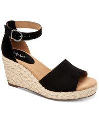 Image of Style & Co Seleeney Wedge Sandals, Created for Macy's