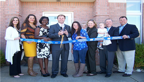Grand Opening Ribbon Cutting for the Robertson Agency.