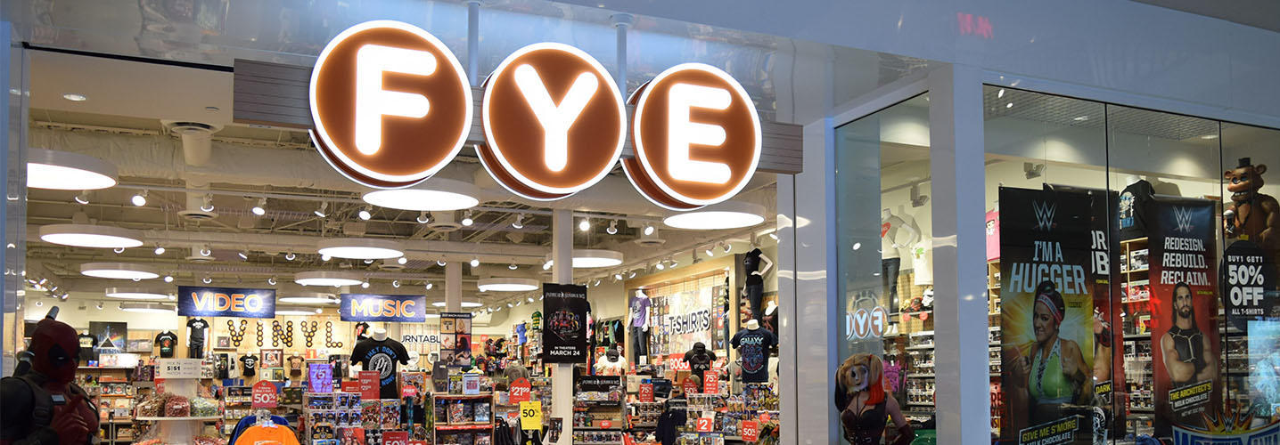 Navigate to image of FYE store front
