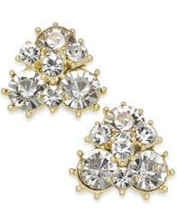 Image of Charter Club Gold-Tone Crystal Cluster Stud Earrings, Created for Macy's