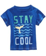 Image of First Impressions Graphic-Print T-Cotton Shirt, Baby Boys, Created for Macy's