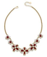 Image of Charter Club Floral Crystal Collar Necklace, Created for Macy's
