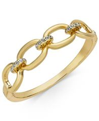 Image of Charter Club Gold-Tone Pavé Link Bangle Bracelet, Created for Macy's