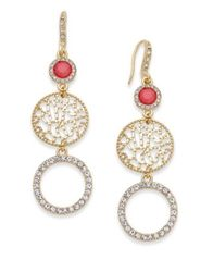 Image of INC International Concepts Gold-Tone Triple Drop Earrings, Created for Macy's