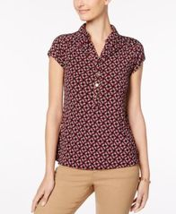 Image of Charter Club Print Polo Top, Created for Macy's