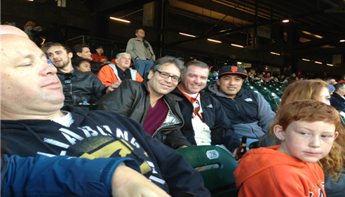Ricky Fishman and Mark Emmons at AT&T Park