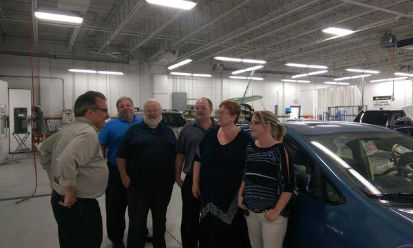 Bill and Kathleen getting a tour of ABRA and their facility.
