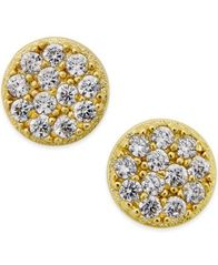 Image of Giani Bernini Cubic Zirconia Stud Earrings (2/5 ct. t.w.) in 18k Gold over Sterling Silver