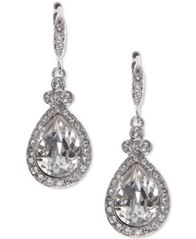 Image of Givenchy Teardrop Pavé Crystal Drop Earrings