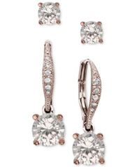 Image of Giani Bernini 2-Pc. Cubic Zirconia Earring Set in Sterling Silver, 18K Gold-Plated Sterling Silver a