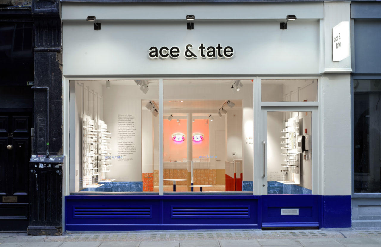 Ace & Tate Brewer Street winkel interieur