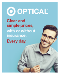 eaf1e6610e5  Eye exams available by Independent Doctors of Optometry next to Target  Optical in most states. Eye exams available from self-employed doctors who  lease ...