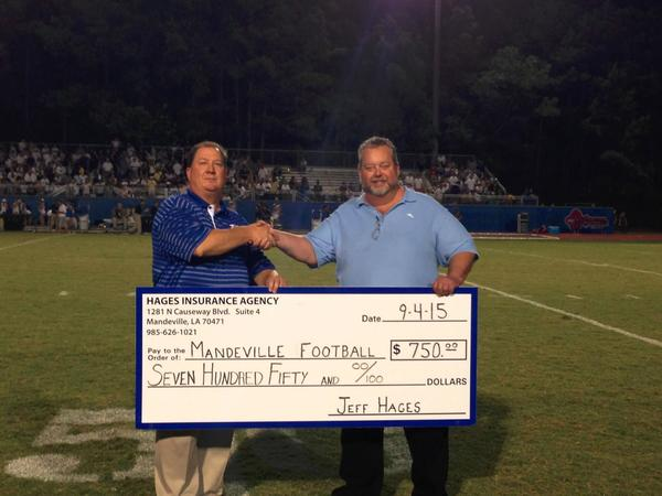 Jeff Hages - Proud Sponsor of Mandeville High School