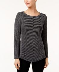 Image of Style & Co Multi-Directional Ribbed Sweater, Created for Macy's