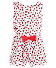 Image of First Impressions Baby Girls Cotton Ladybug Romper, Created for Macy's