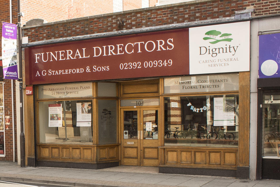 A G Stapleford & Sons Funeral Directors in Fratton, Portsmouth.