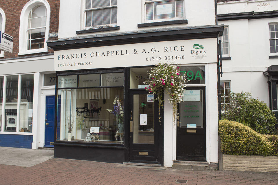 Francis Chappell & A G Rice Funeral Directors in East Grinstead, West Sussex.