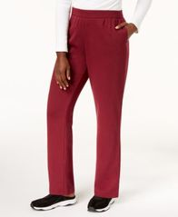 Image of Karen Scott Petite Fleece Sweatpants, Created for Macy's