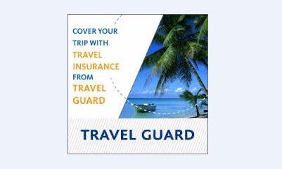 Travel Guard insurance flyer.