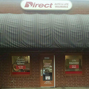Front of Direct Auto store at 4023 East Brookshire Boulevard, Charlotte