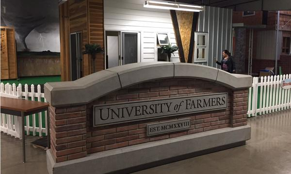 University of Farmers sign
