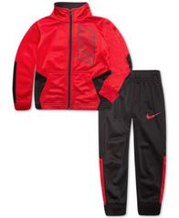 Image of Nike Little Boys 2-Pc. Colorblocked Tricot Track Suit Set