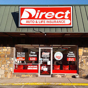 Front of Direct Auto store at 1731 Center Point Parkway, Birmingham