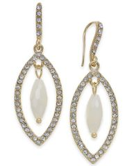 Image of I.N.C. Gold-Tone Stone & Pavé Orbital Drop Earrings, Created for Macy's