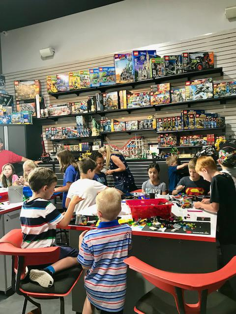Group of children playing at BrickLAB