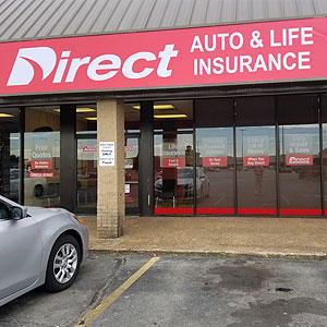 Front of Direct Auto store at 2221 C South Caraway Road, Jonesboro