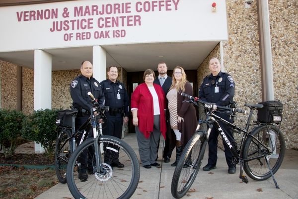 The Walden Agency Donates Bikes to Red Oak ISD Police