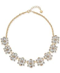 Image of Charter Club Gold-Tone Crystal Cluster Statement Necklace, Created for Macy's