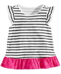 Image of First Impressions Baby Girls Striped Cotton Tunic, Created for Macy's